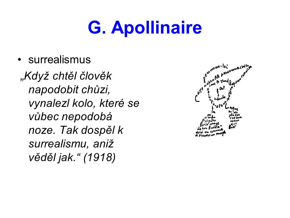 G. Apollinaire surrealismus