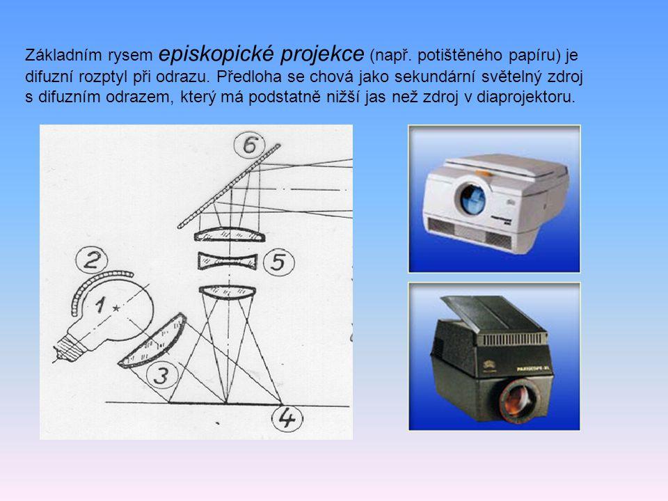 Základním rysem episkopické projekce (např