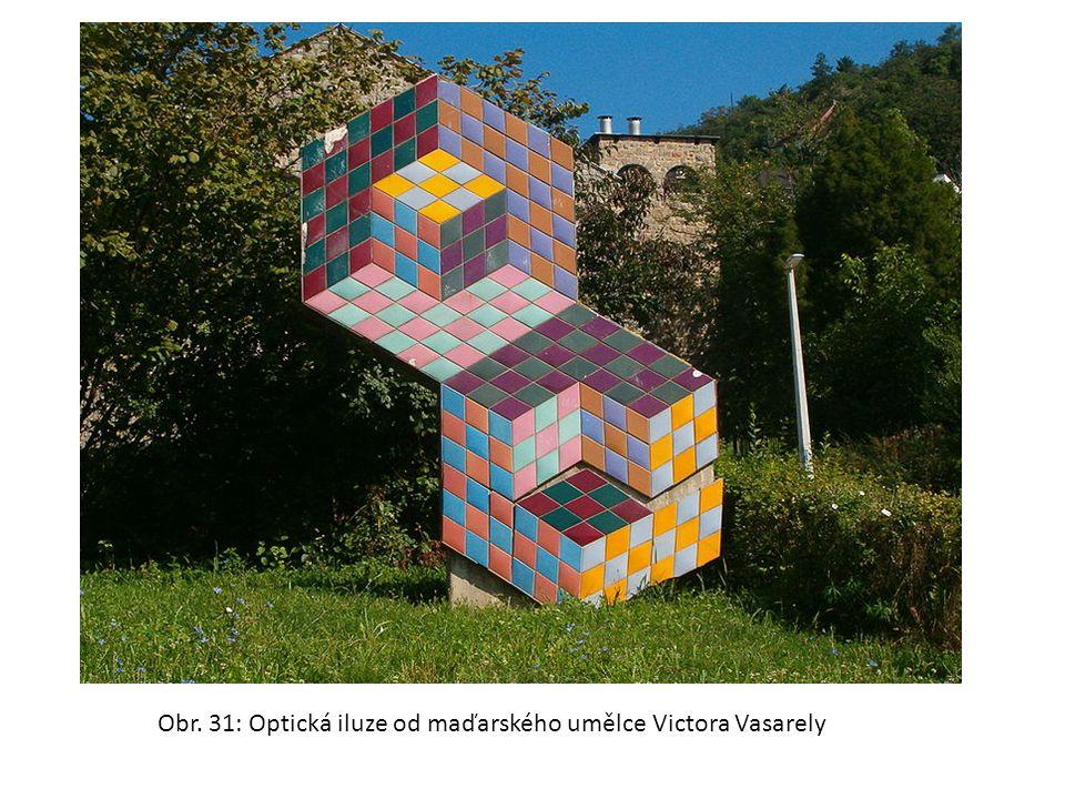 Obr. 31: Optická iluze od maďarského umělce Victora Vasarely