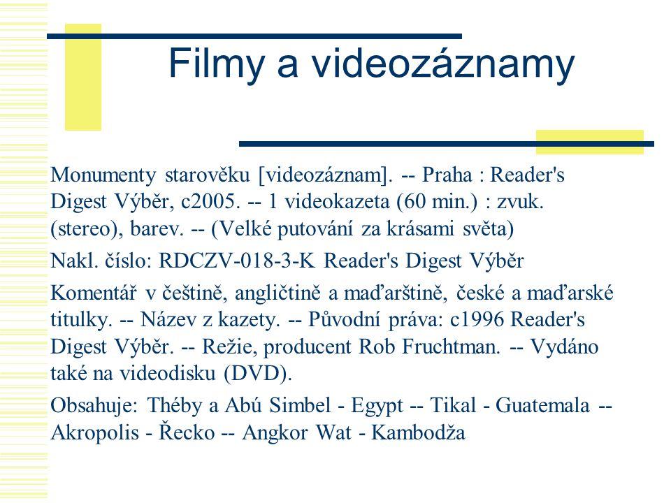 Filmy a videozáznamy
