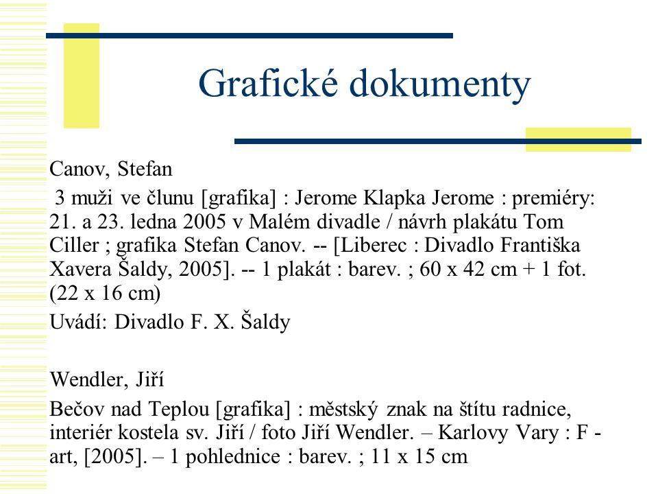 Grafické dokumenty Canov, Stefan