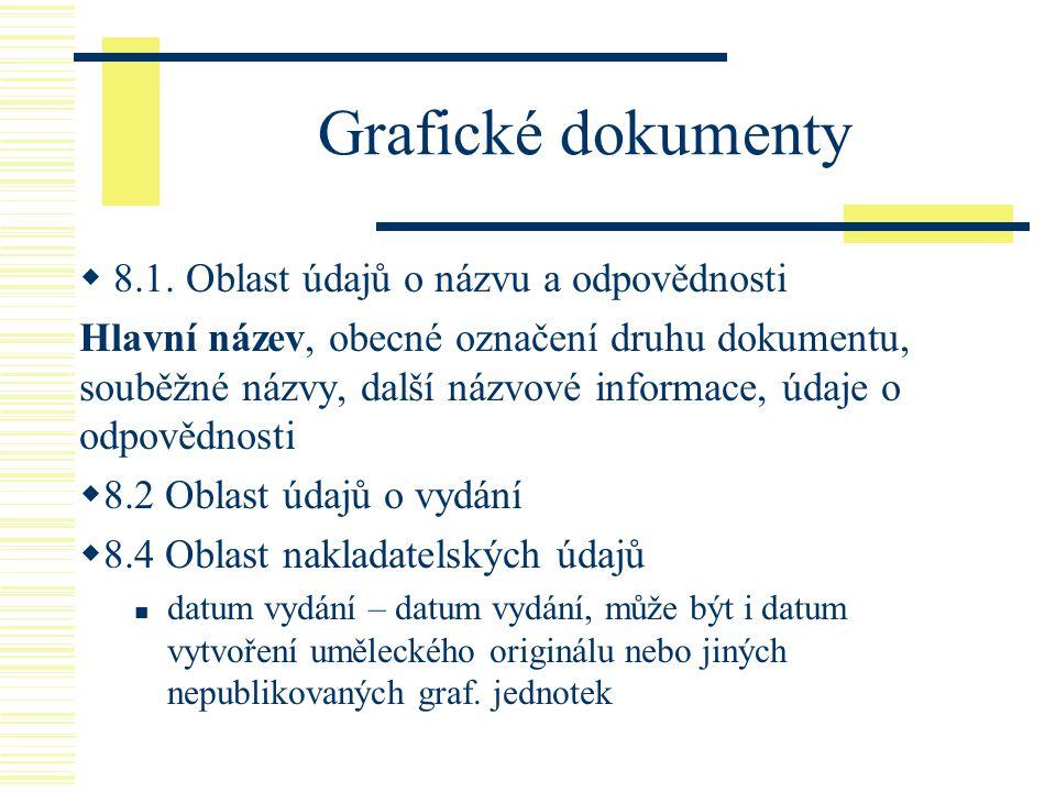 Grafické dokumenty 8.1. Oblast údajů o názvu a odpovědnosti