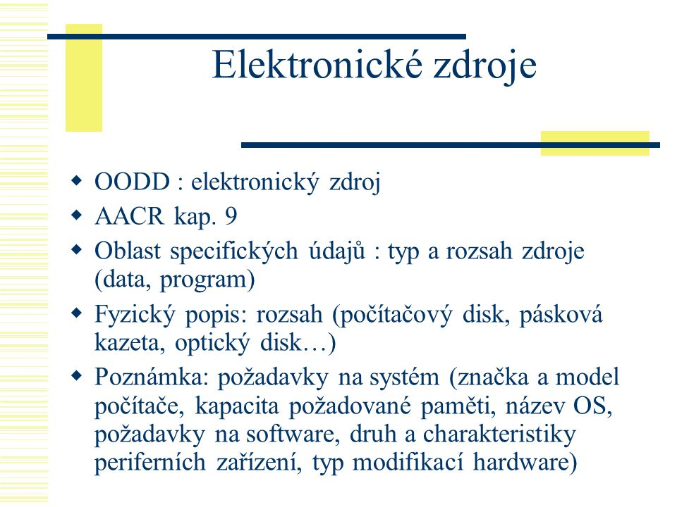 Elektronické zdroje OODD : elektronický zdroj AACR kap. 9
