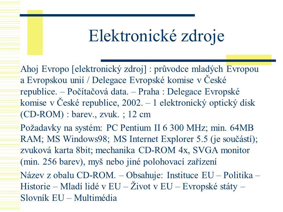 Elektronické zdroje
