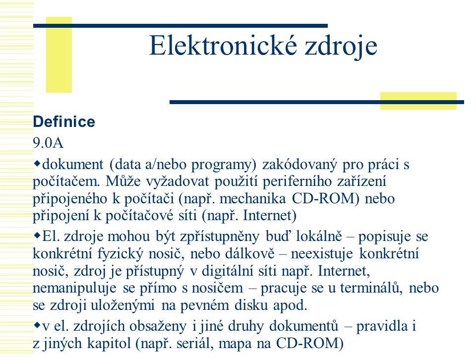 Elektronické zdroje Definice 9.0A