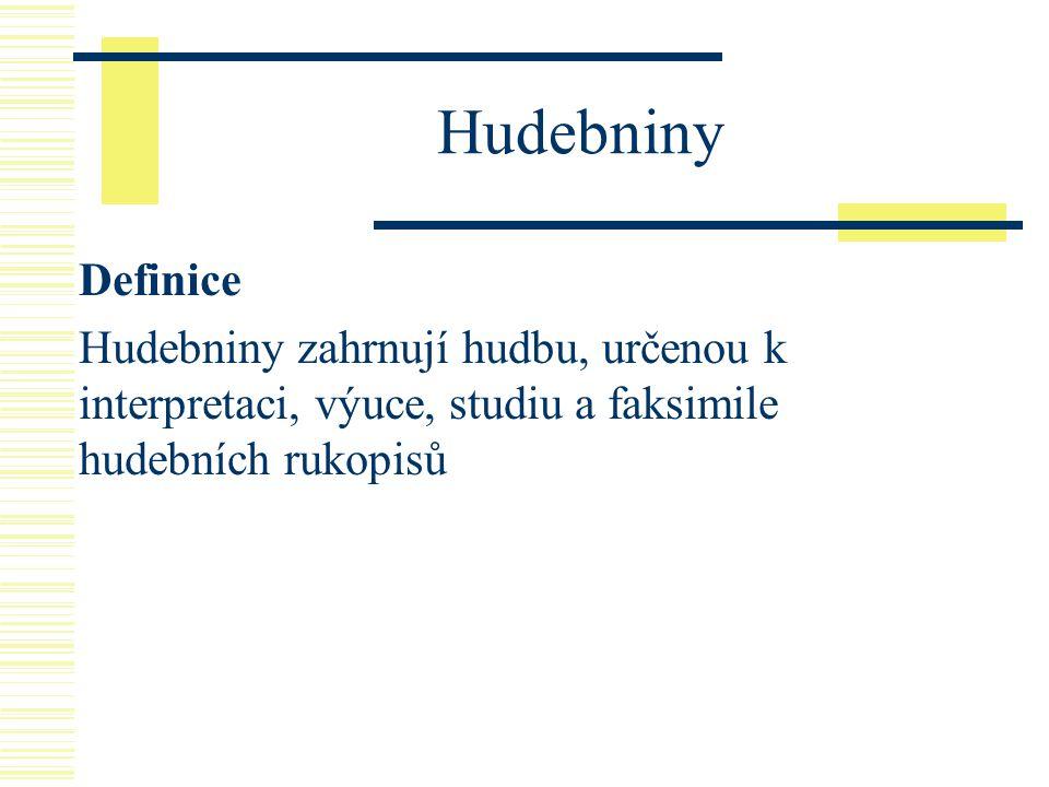 Hudebniny Definice.