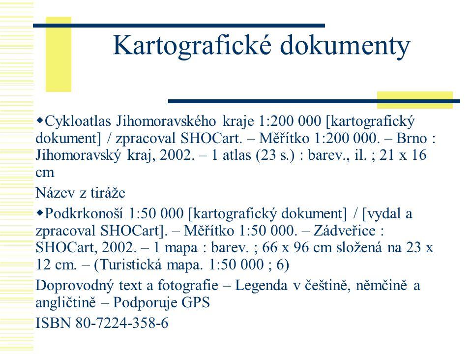 Kartografické dokumenty