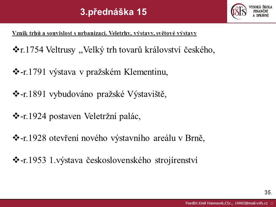 """r.1754 Veltrusy """"Velký trh tovarů království českého,"""
