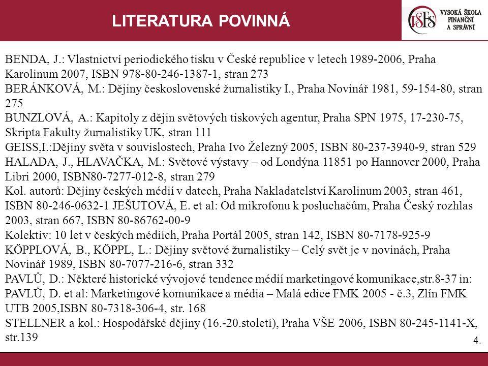 LITERATURA POVINNÁ