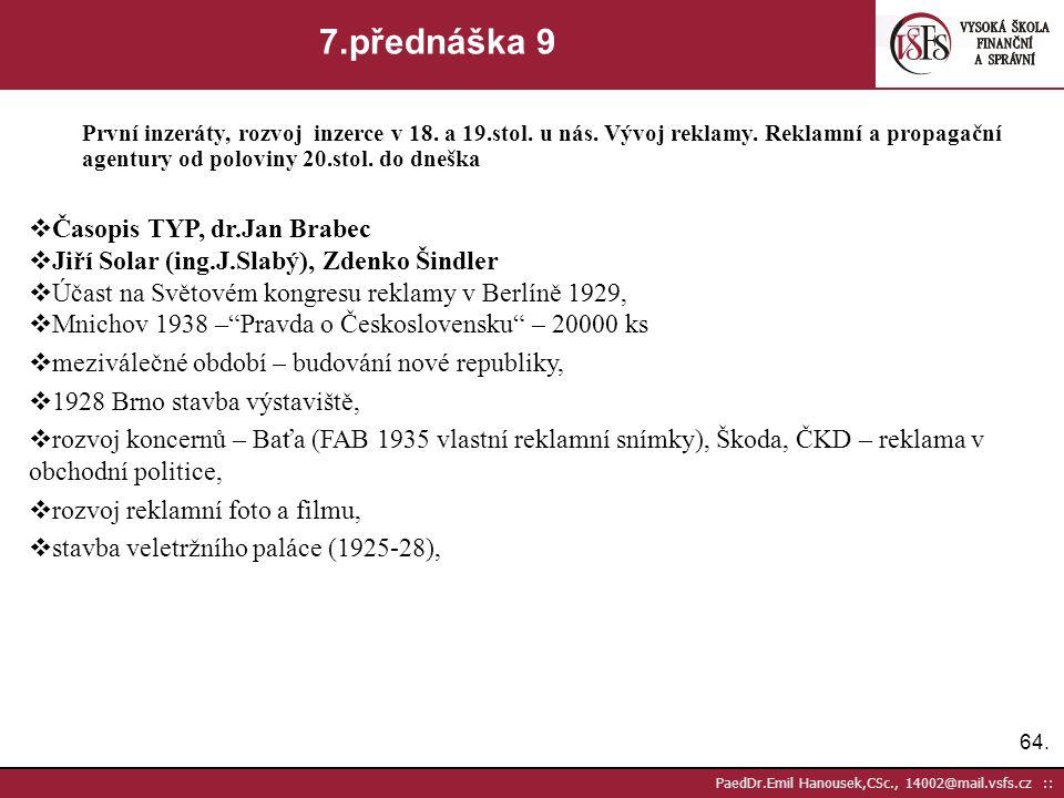 7.přednáška 9 Časopis TYP, dr.Jan Brabec