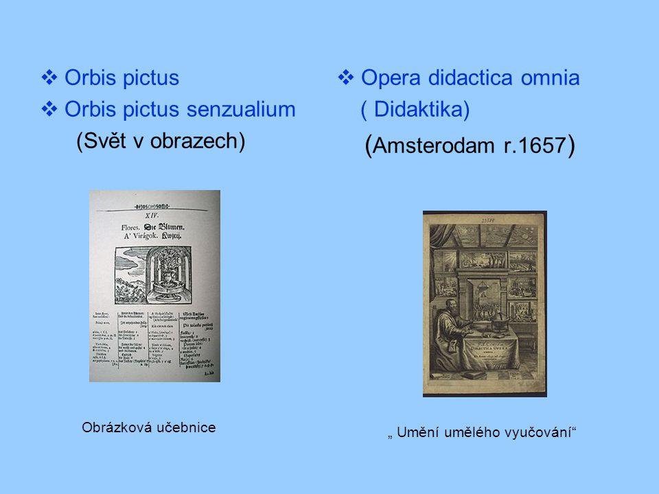 (Amsterodam r.1657) Orbis pictus Orbis pictus senzualium