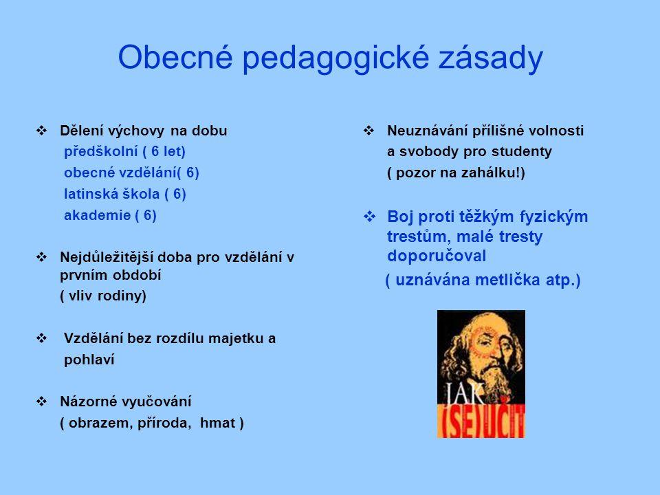 Obecné pedagogické zásady