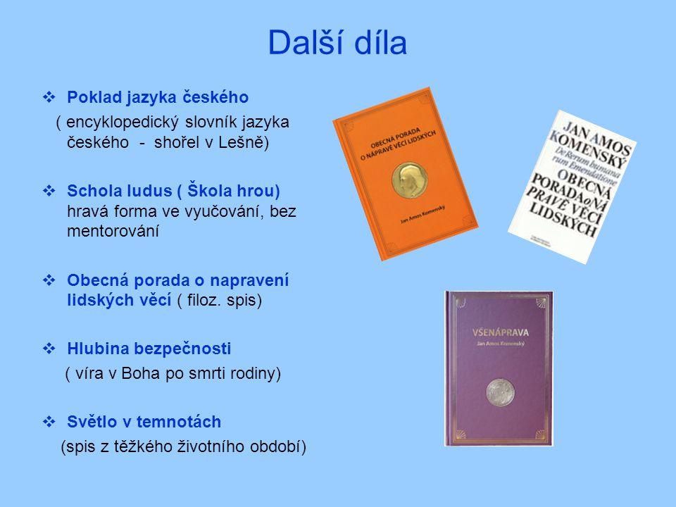Další díla Poklad jazyka českého