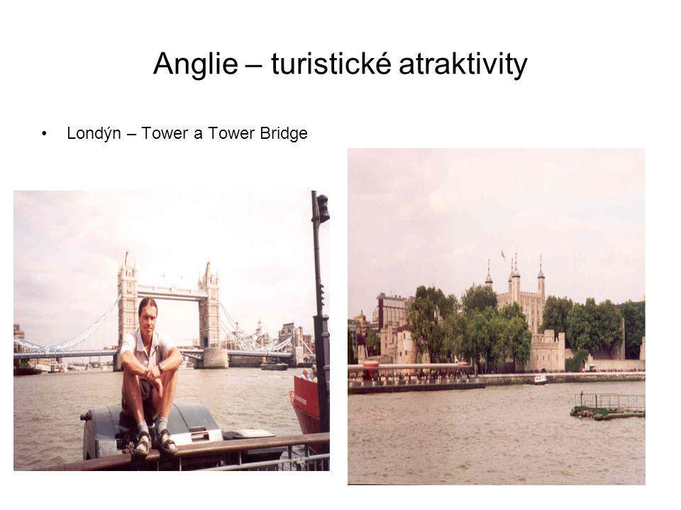 Anglie – turistické atraktivity
