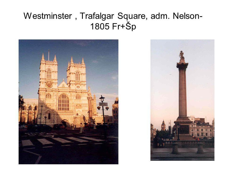 Westminster , Trafalgar Square, adm. Nelson- 1805 Fr+Šp
