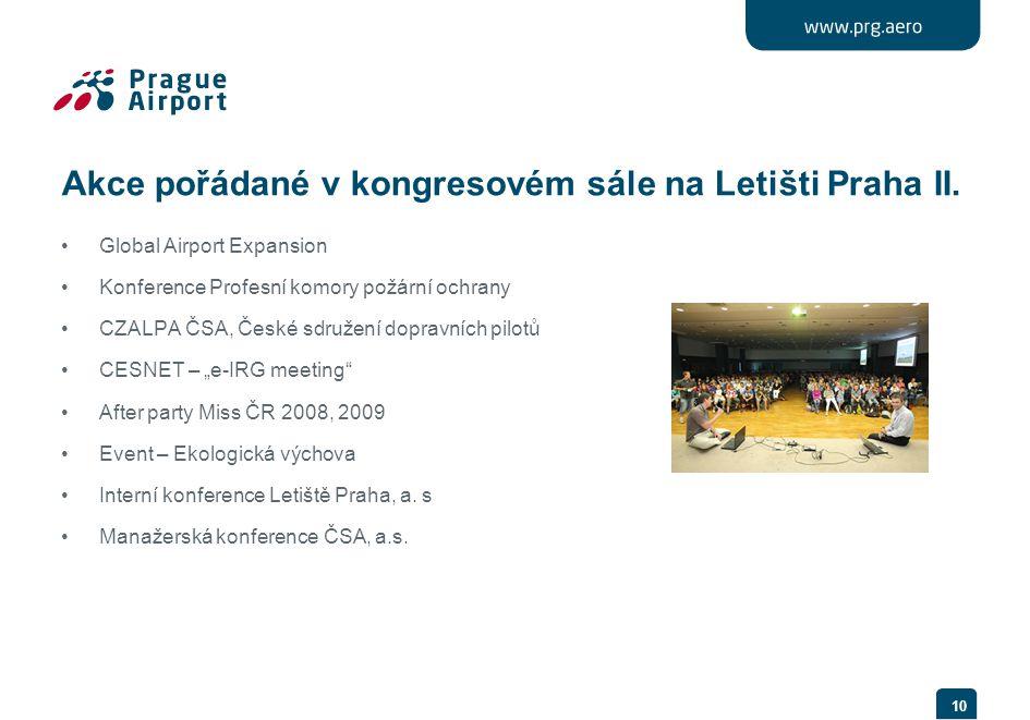 Akce pořádané v kongresovém sále na Letišti Praha II.