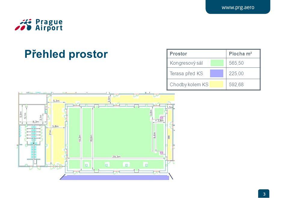 Přehled prostor Prostor Plocha m² Kongresový sál 565,50 Terasa před KS