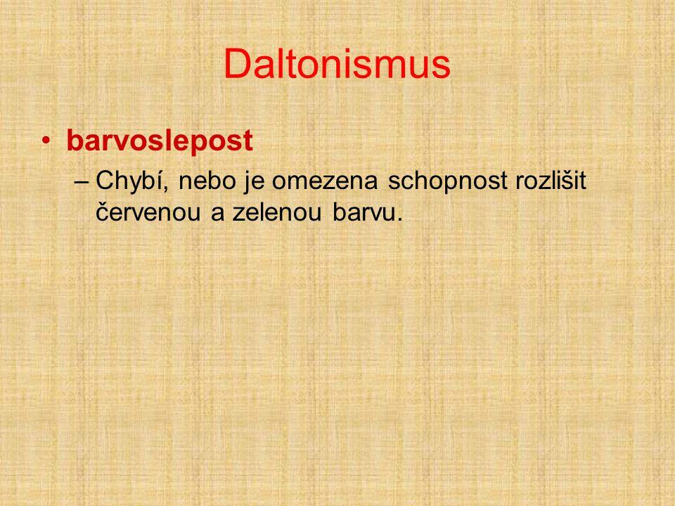 Daltonismus barvoslepost