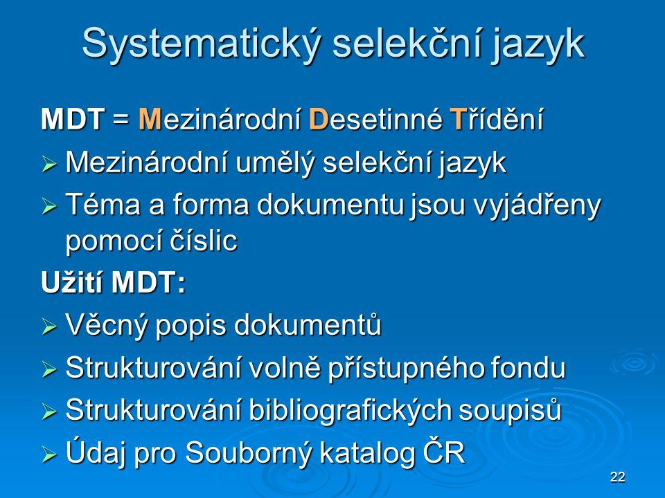 Systematický selekční jazyk