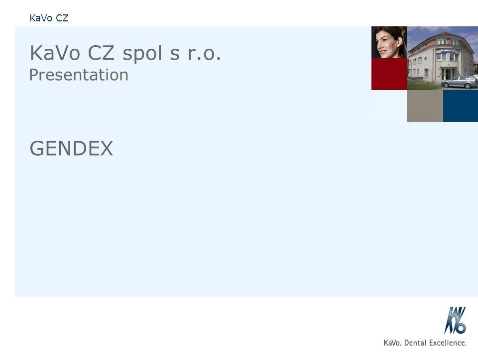 KaVo CZ spol s r.o. GENDEX Presentation 01.09.2010