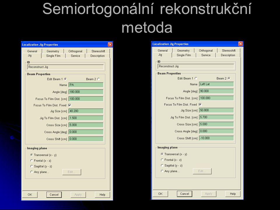 Semiortogonální rekonstrukční metoda