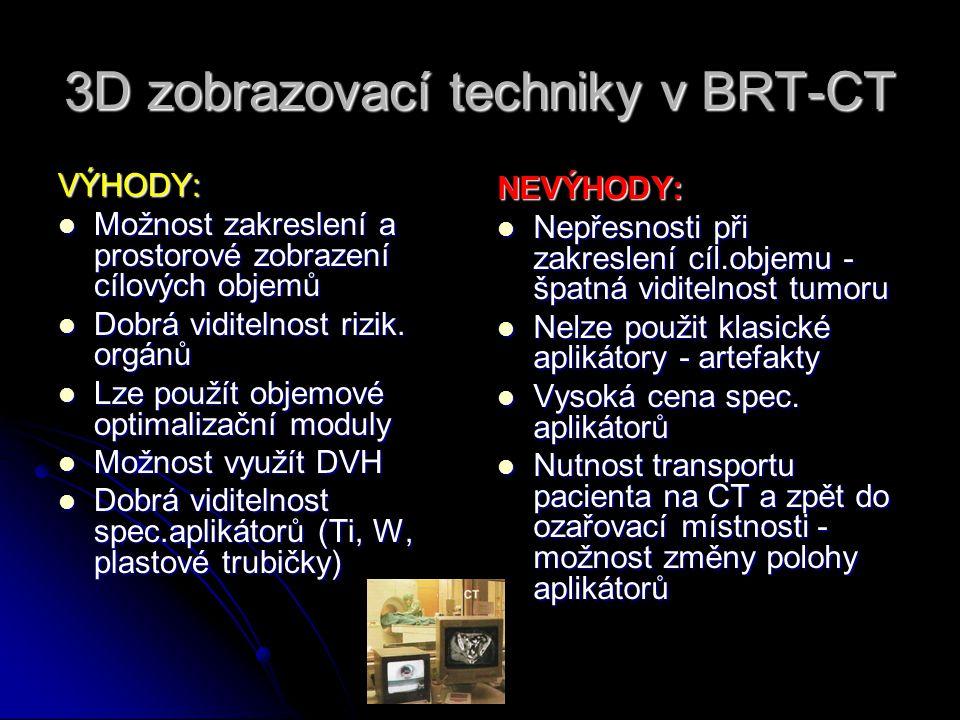 3D zobrazovací techniky v BRT-CT