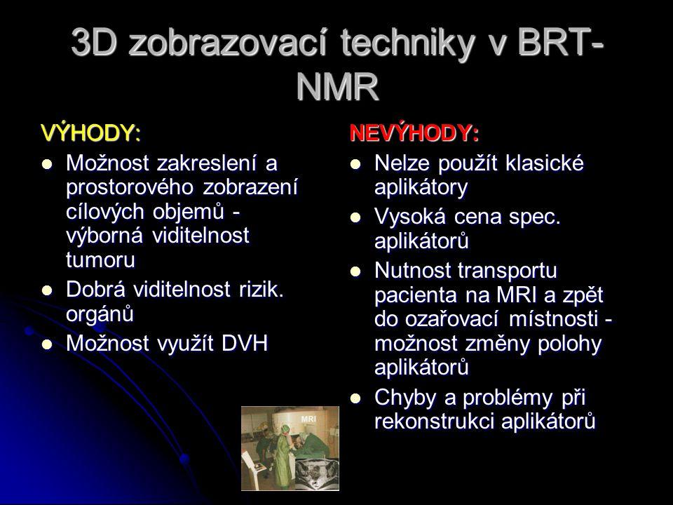 3D zobrazovací techniky v BRT-NMR