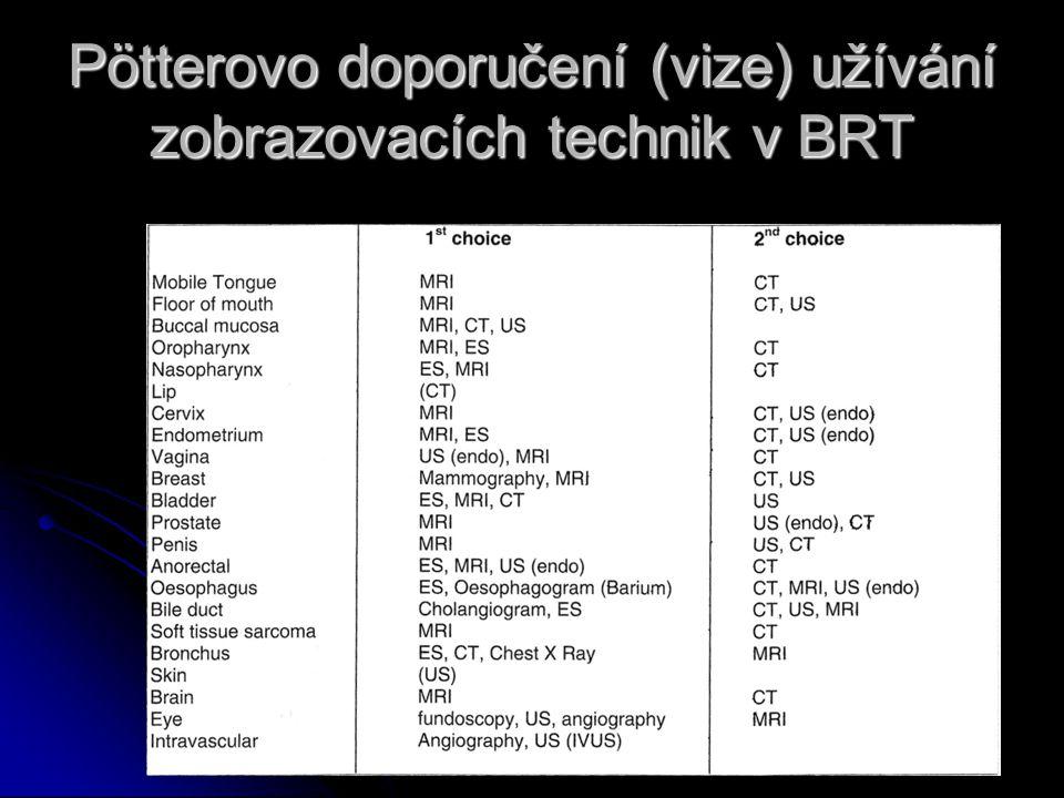 Pötterovo doporučení (vize) užívání zobrazovacích technik v BRT