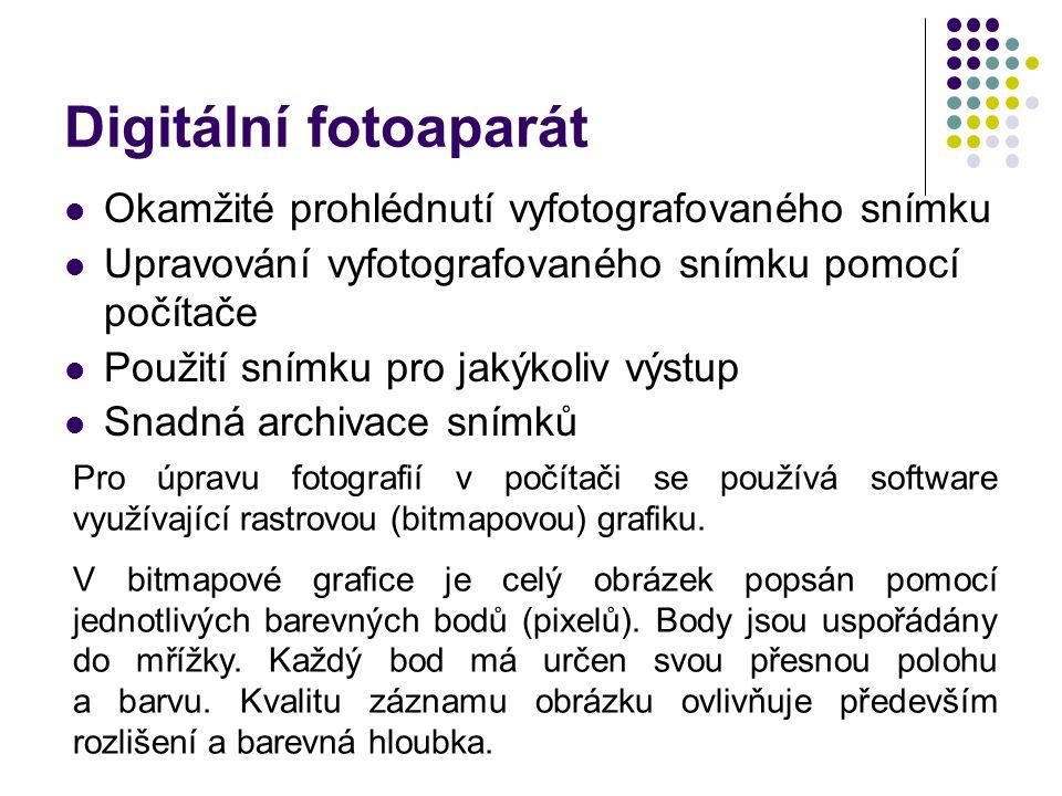 Digitální fotoaparát Okamžité prohlédnutí vyfotografovaného snímku