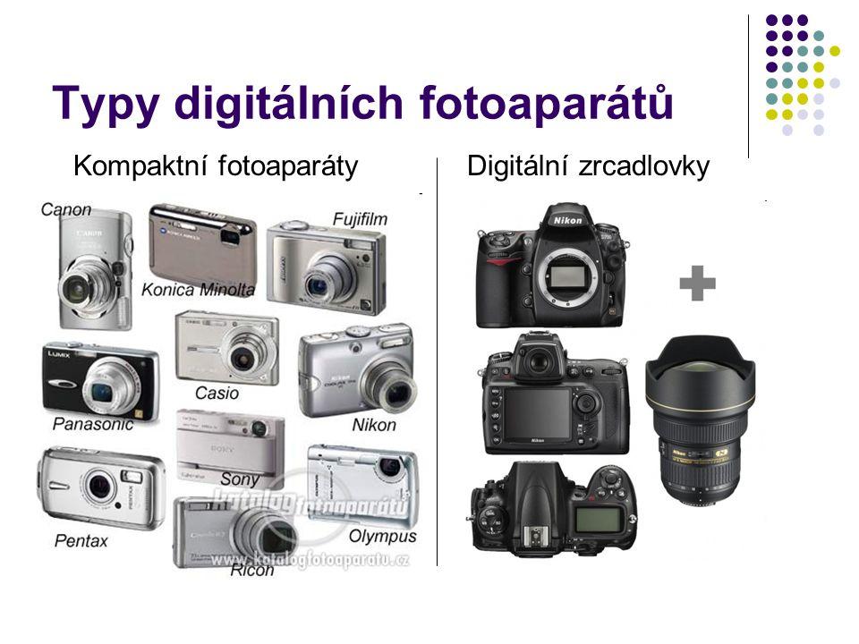 Typy digitálních fotoaparátů