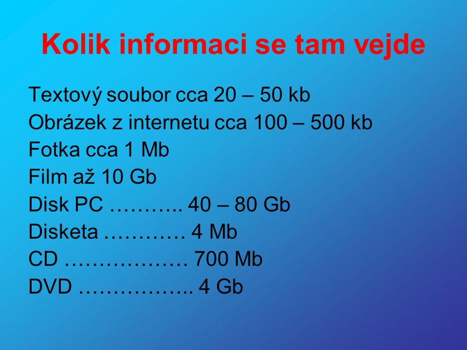 Kolik informaci se tam vejde