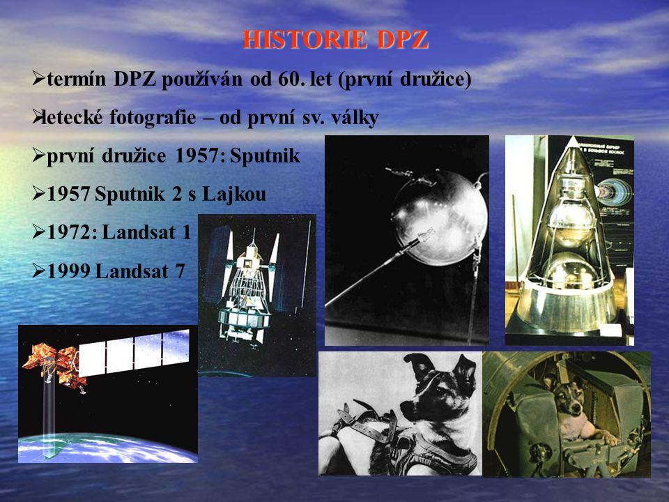 HISTORIE DPZ termín DPZ používán od 60. let (první družice)