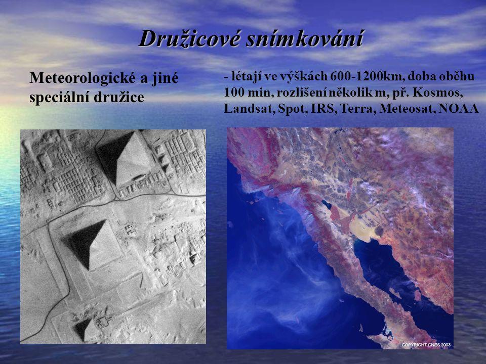 Družicové snímkování Meteorologické a jiné speciální družice