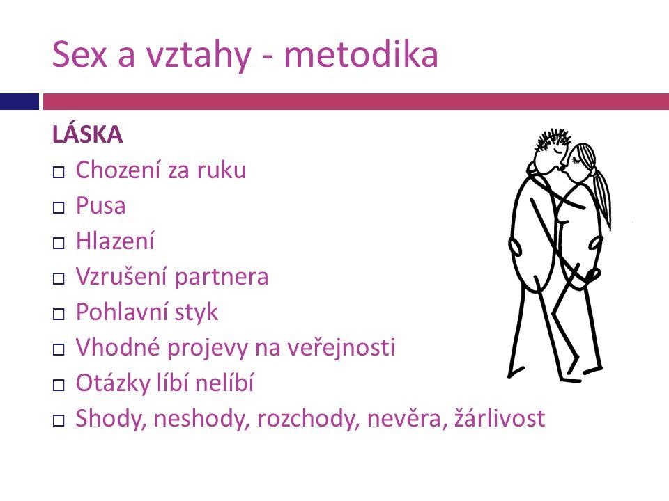 Sex a vztahy - metodika LÁSKA Chození za ruku Pusa Hlazení