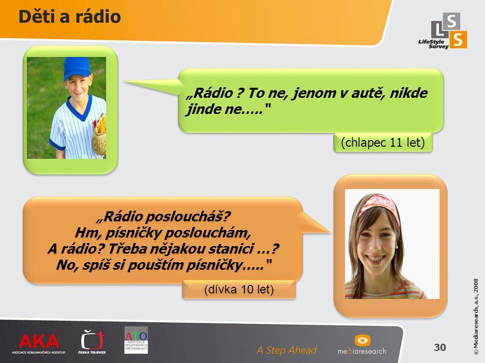 """Děti a rádio """"Rádio To ne, jenom v autě, nikde jinde ne….."""