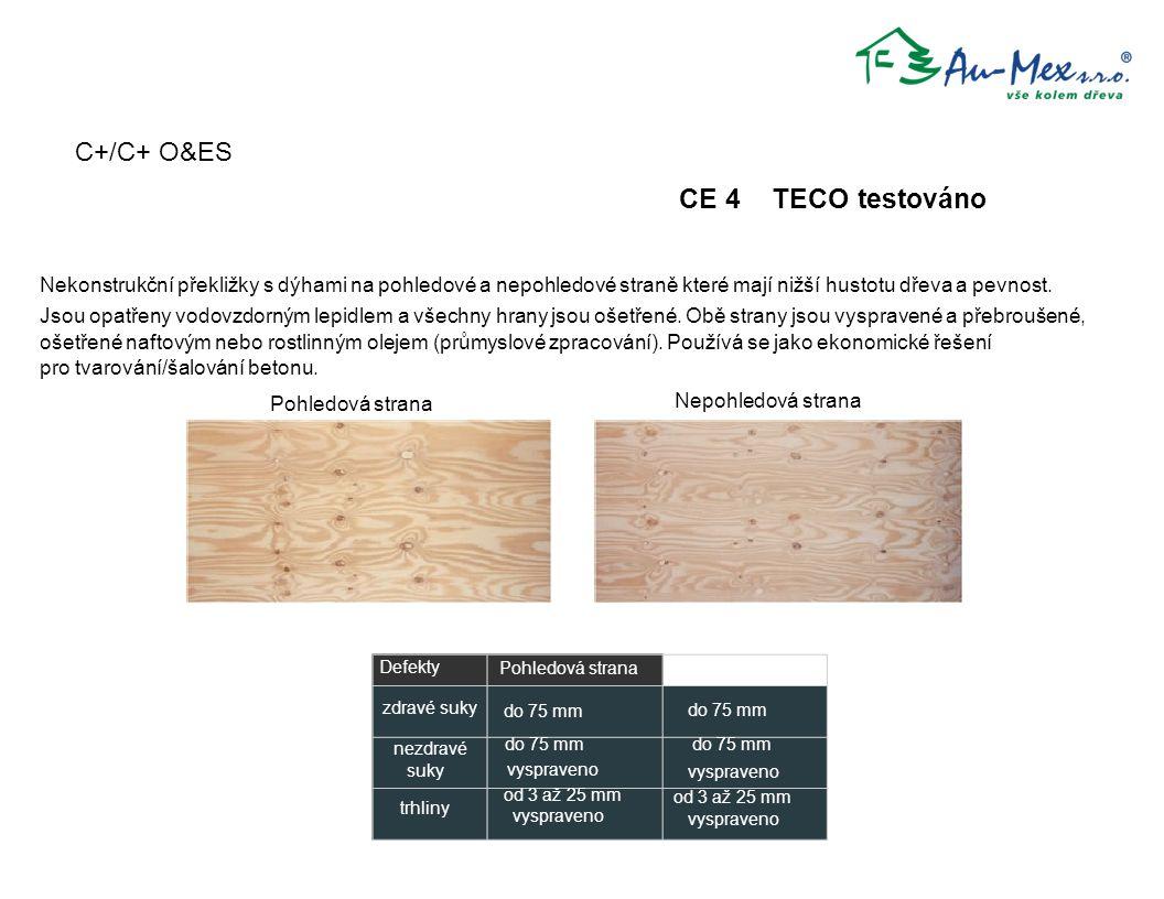 C+/C+ O&ES CE 4 TECO testováno zdravé suky nezdravé suky trhliny