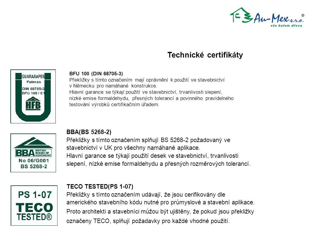 Technické certifikáty