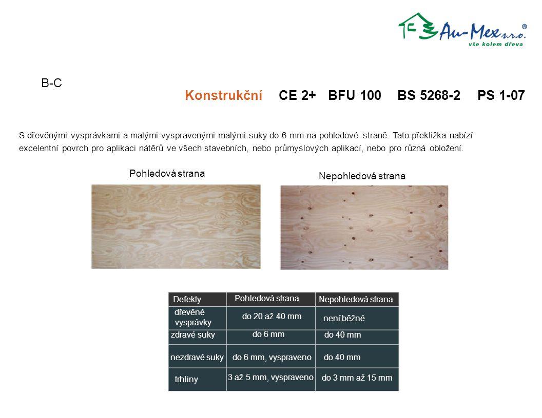 Konstrukční CE 2+ BFU 100 BS 5268-2 PS 1-07