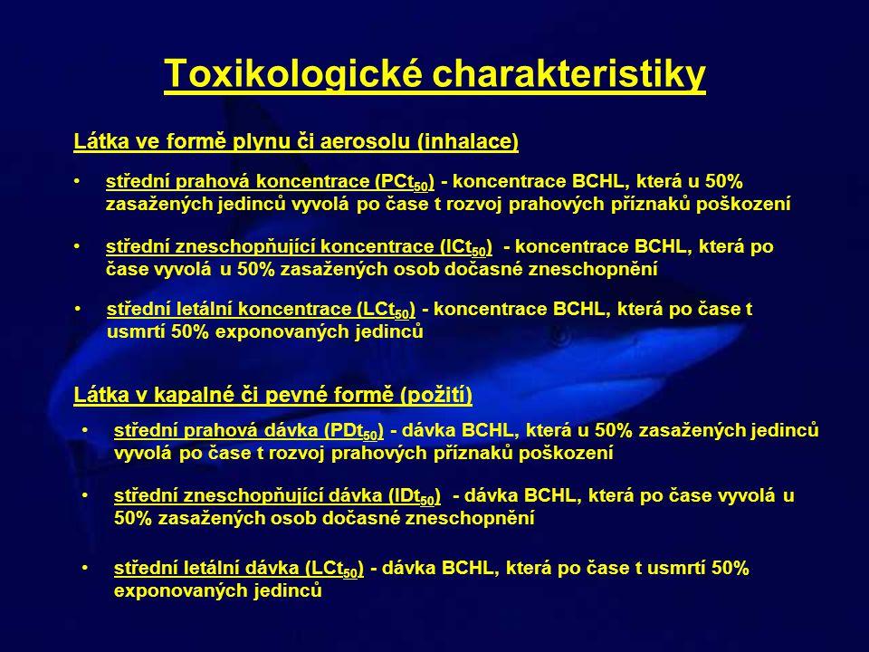 Toxikologické charakteristiky