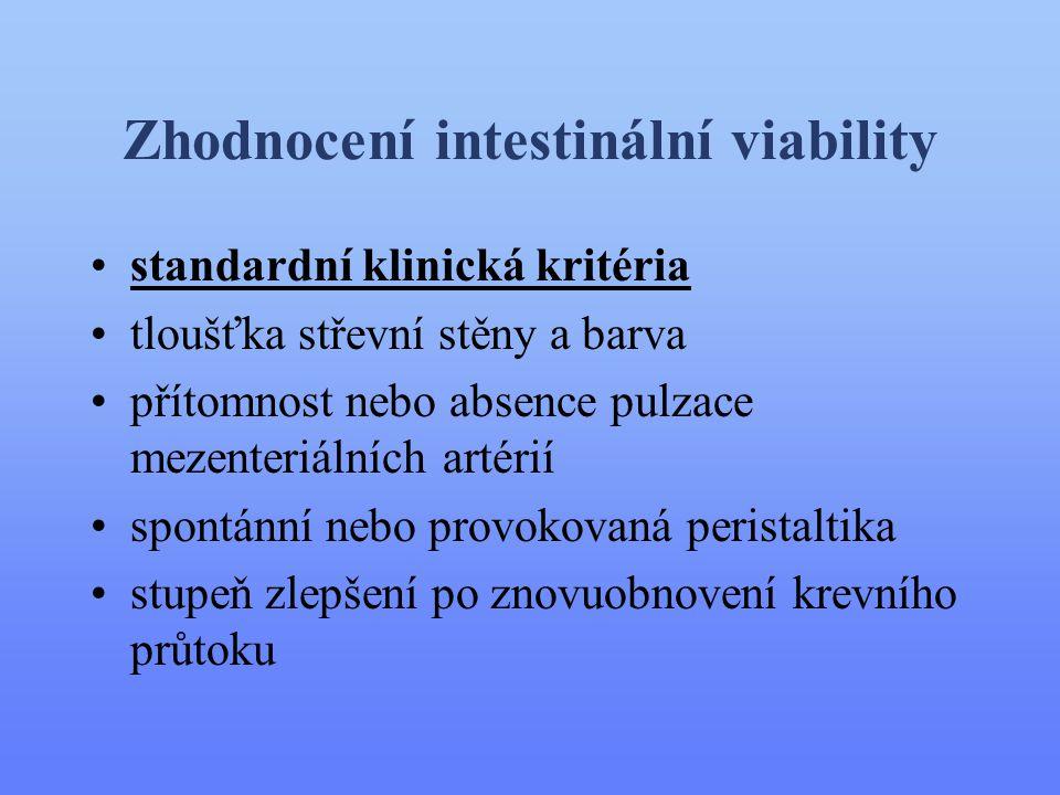 Zhodnocení intestinální viability
