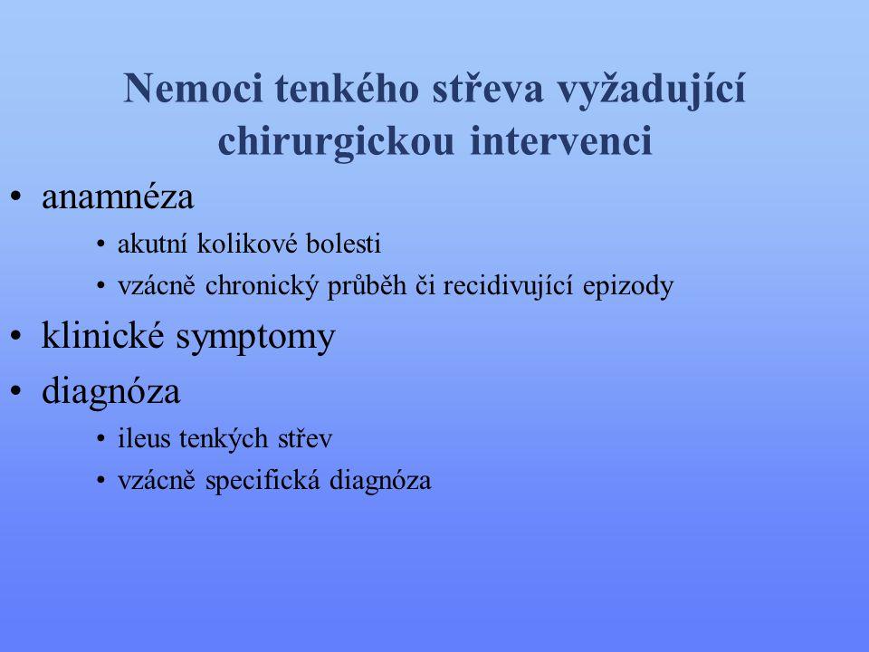Nemoci tenkého střeva vyžadující chirurgickou intervenci