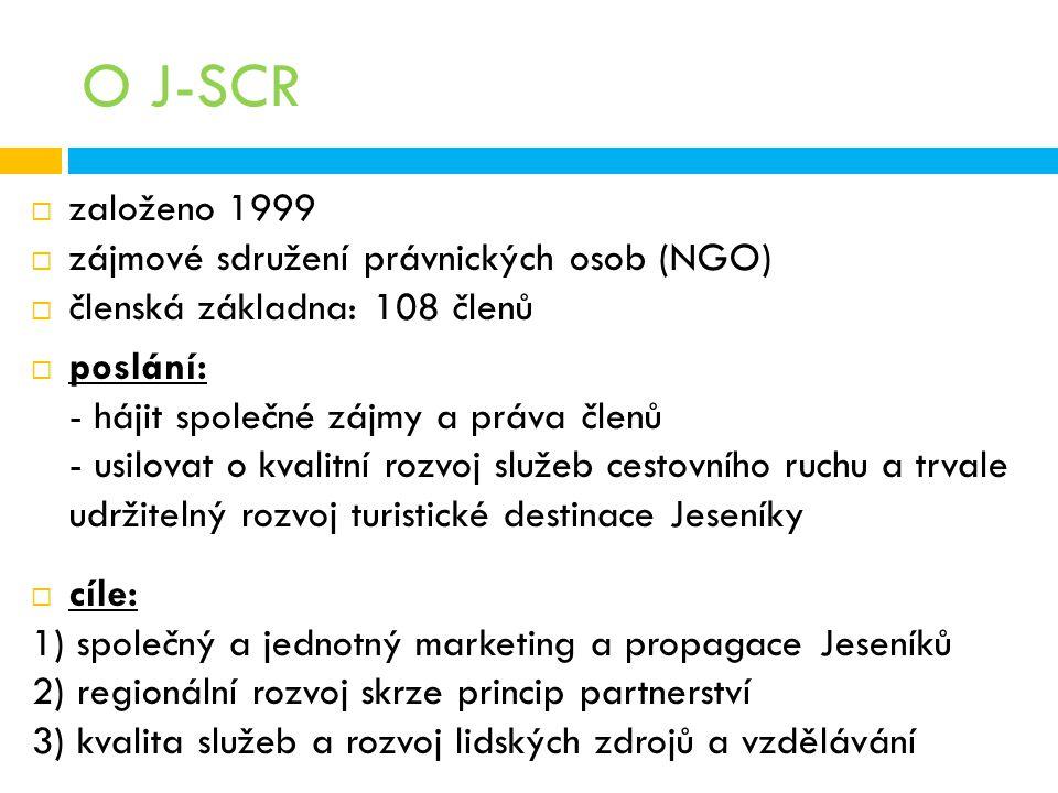 O J-SCR založeno 1999 zájmové sdružení právnických osob (NGO)