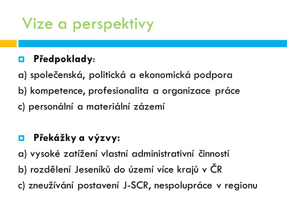 Vize a perspektivy Předpoklady: