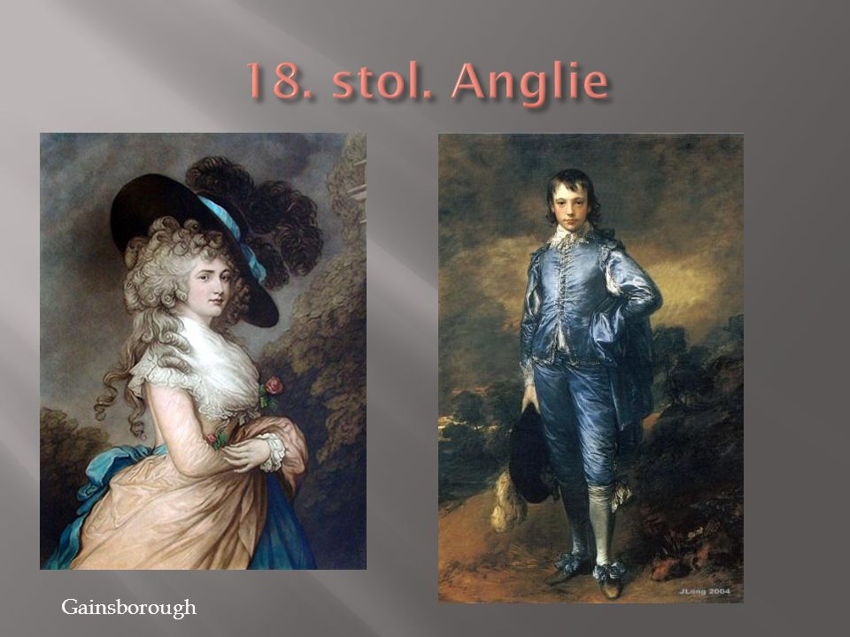 18. stol. Anglie Gainsborough