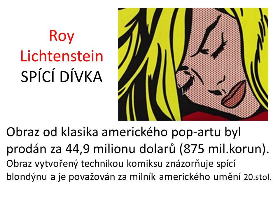 Roy Lichtenstein SPÍCÍ DÍVKA