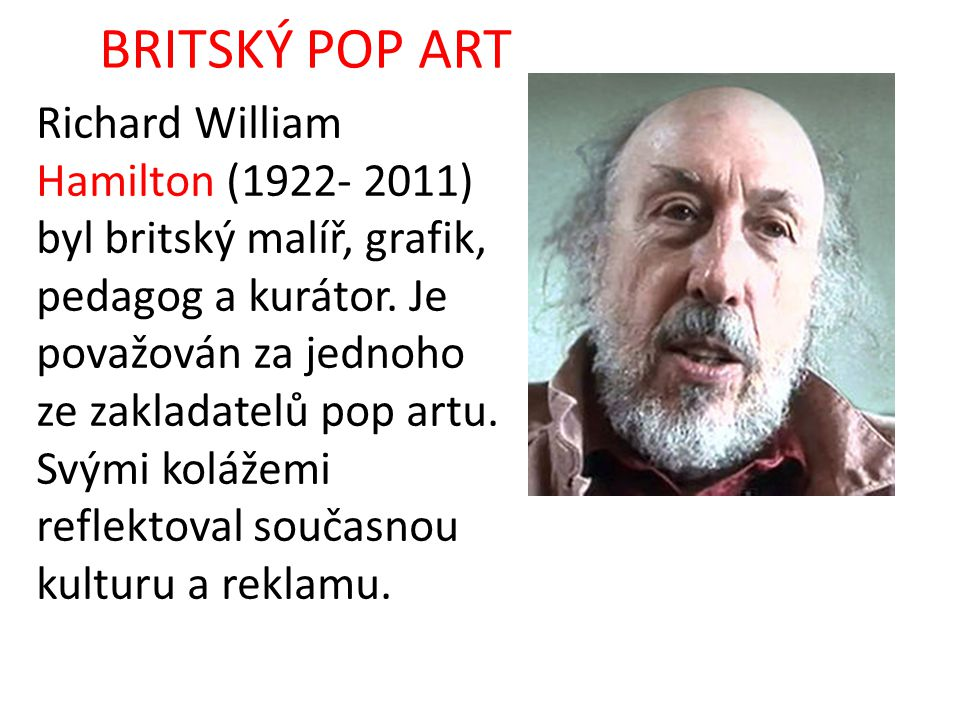 BRITSKÝ POP ART