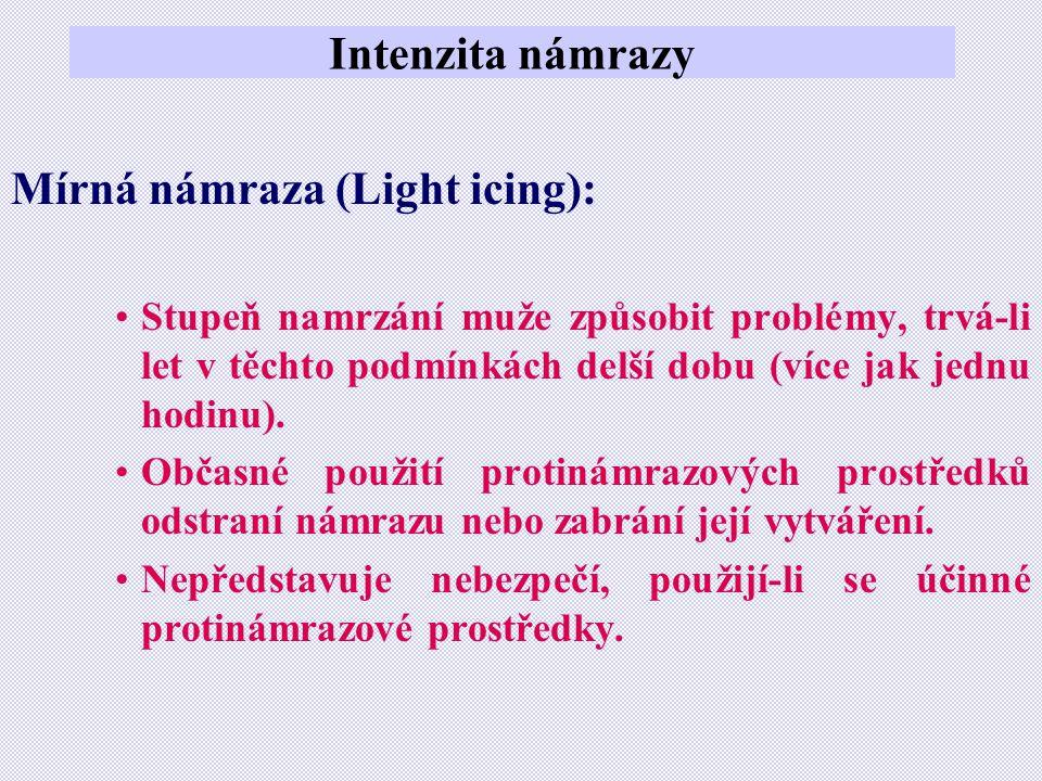 Mírná námraza (Light icing):