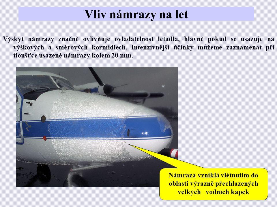 Vliv námrazy na let