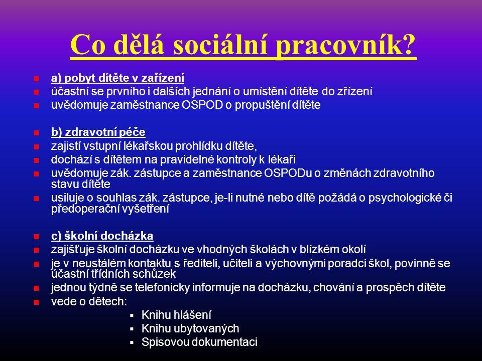 Co dělá sociální pracovník