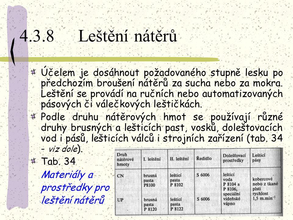 4.3.8 Leštění nátěrů